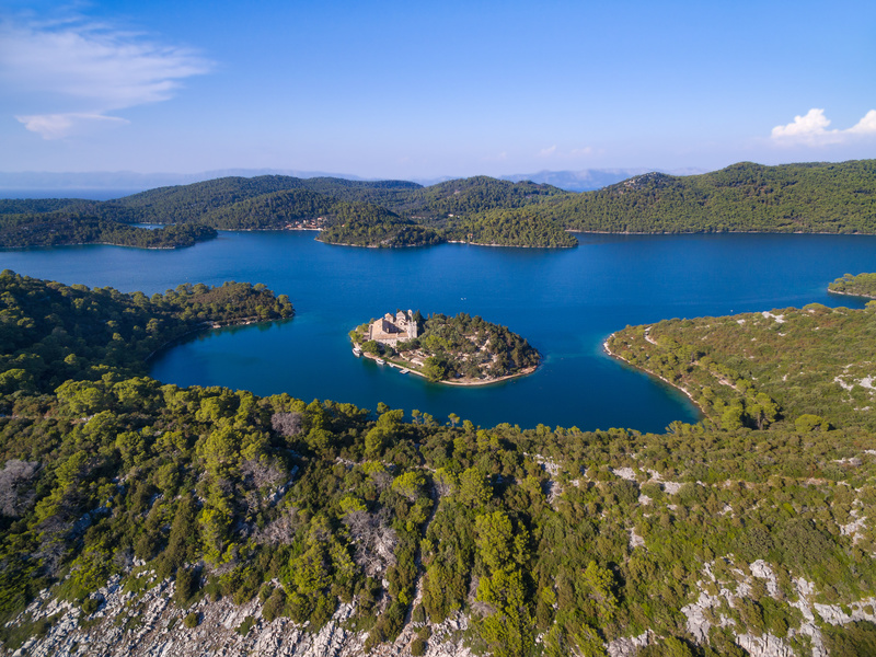 Aerial view of St Mary's Island, Mljet (Croatia Tourist Office)