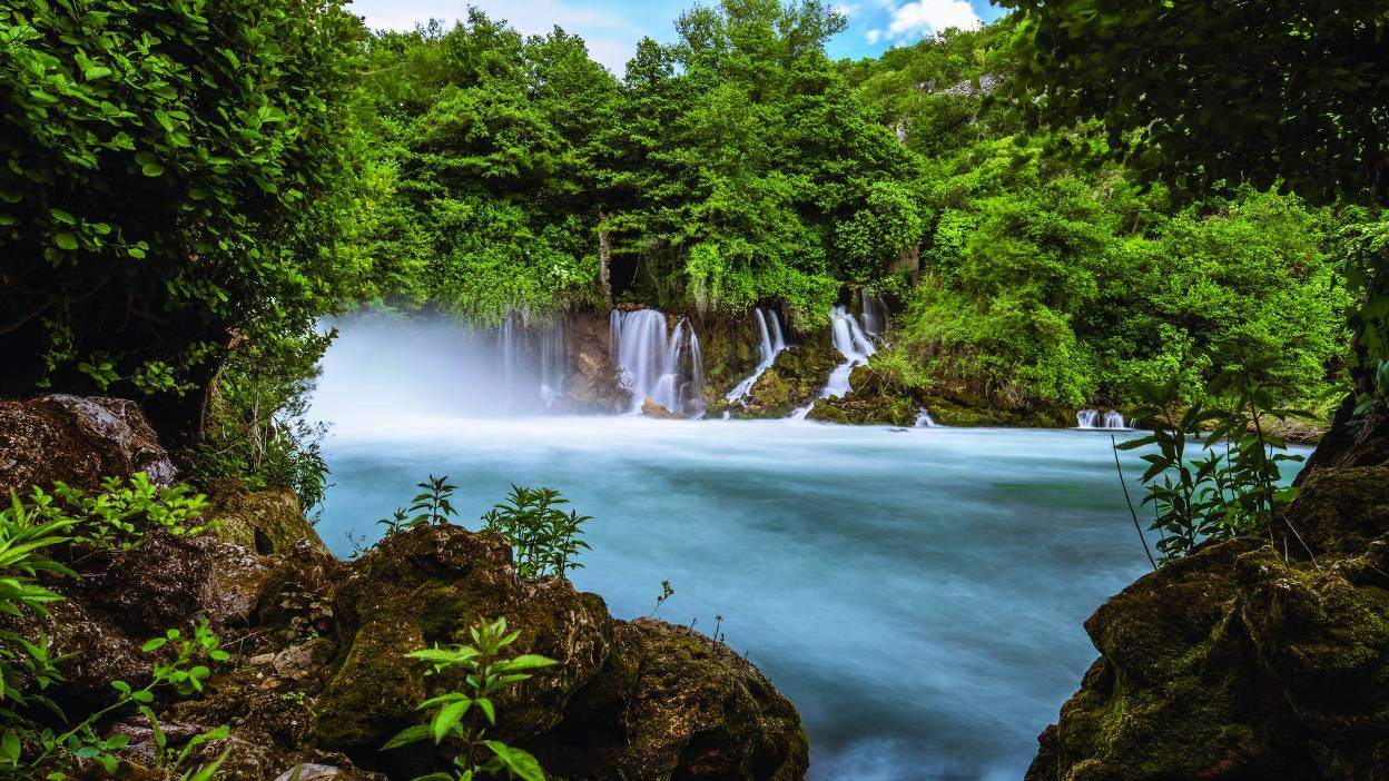 Lakes and waterfalls in the Krka National Park (Krka National Park)